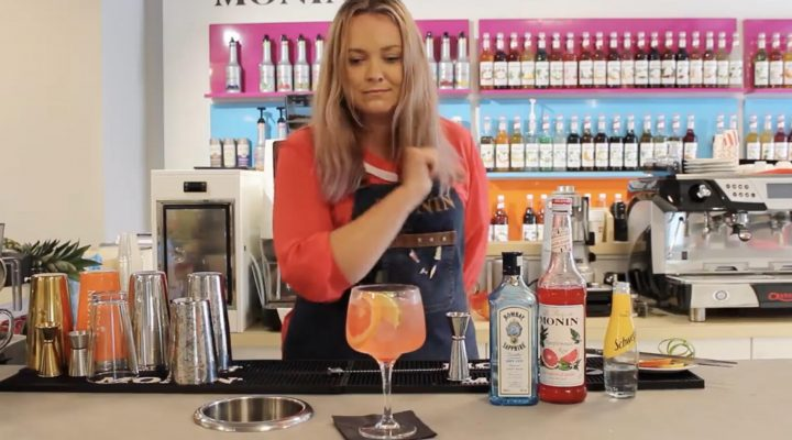 Monin pink grapefruit gin fusion recipe